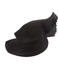 Issey Miyake Orbit Pleated High Hat Black