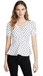 Yumi Kim After Hours Top Swing Dot White