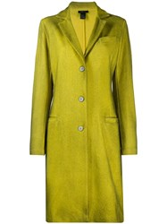 Avant Toi Single Breasted Coat Yellow