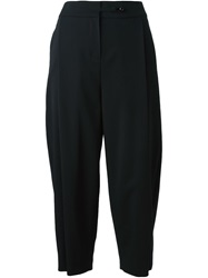 Emporio Armani Cropped Trousers Black