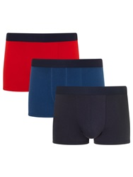 John Lewis Bright Jersey Trunks Pack Of 3 Red Blue Navy
