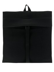 Issey Miyake Pleats Please By Micro Pleated Backpack Black