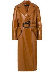 Ellery Belted Trench Coat Brown