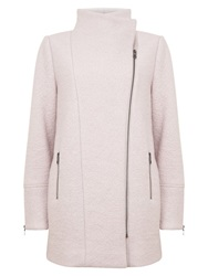 Mint Velvet Powder Biker Coat Pale Pink