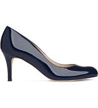 Lk Bennett Opal Patent Leather Courts Blu Navy