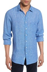 Rodd And Gunn Men's Norsewood Sports Fit Linen Sport Shirt Ocean