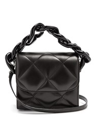 Marques Almeida Oversized Curb Chain Quilted Leather Shoulder Bag Black