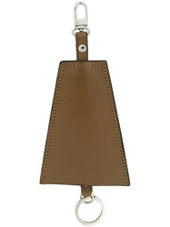 Christophe Lemaire Triangle Key Holder Brown