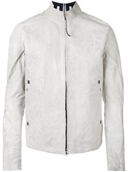 Isaac Sellam Experience Roll Neck Jacket White