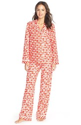 Women's Nordstrom Flannel Pajamas Red Tango Heart