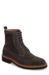 Men's 1901 Spence Longwing Boot Grey Suede