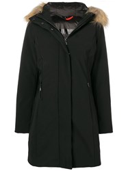 Rrd Faux Fur Trimmed Hood Jacket Black