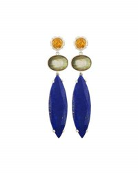Stephen Dweck Citrine Labradorite And Lapis Triple