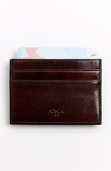 Men's Bosca 'Old Leather' Front Pocket Wallet Brown Dark Brown