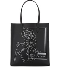 Givenchy Stargate Bambi Leather Shopper Bag Black White