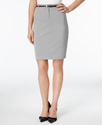 Calvin Klein Petite Belted Pencil Skirt Tin