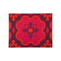 Images D'orient Set Of 2 Rectangular Placemats Sejjadeh Pink