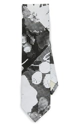 The Hill Side Big Halftone Floral Print Tie