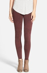 Junior Women's Bp. Moto Washed Leggings Burgundy Stem