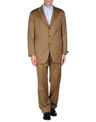 Belvest Suits Khaki