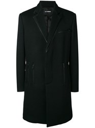 Les Hommes Classic Formal Coat Black