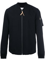 Closed Zip Up Jacket Blue