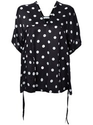 Christian Wijnants Polka Dot Top Women Silk 36 Black