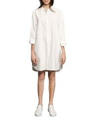 French Connection Willis Button Front Shirt Dress White