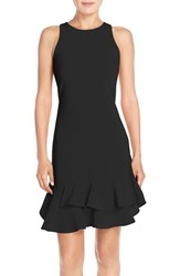 Chelsea 28 Women's Chelsea28 Tiered Ruffle Hem Dress Black