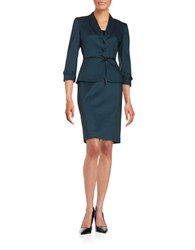 Tahari By Arthur S. Levine Polka Dot Two Piece Suit
