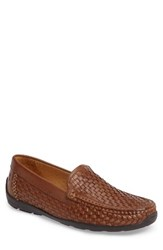 Tommy Bahama Men's Orson Driving Shoe Dark Tan Leather