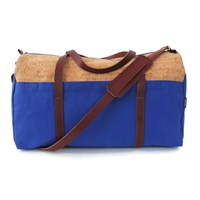 Spicer Bags Cork Duffle Bagbright Blue Canvas