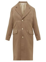Our Legacy Dolphin Single Breasted Gabardine Coat Green