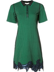 3.1 Phillip Lim Sequin Embroidered Polo Dress Green