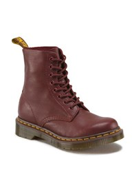 Fergie Pascal Leather Boots Cherry Red