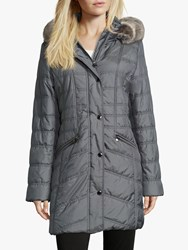Betty Barclay Quilted Hooded Coat Ashley Blue