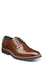 Stacy Adams Barcliff Cap Toe Derby Cognac Leather