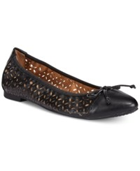 Rialto Sofie Perforated Ballet Flats Women's Shoes Black