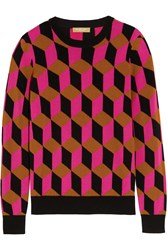 Michael Kors Hexagon Intarsia Cashmere Sweater