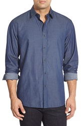 Zagiri 'It's Time' Regular Fit Twill Sport Shirt Navy