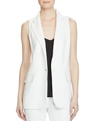 Lauren Ralph Lauren Stretch Crepe One Button Vest White