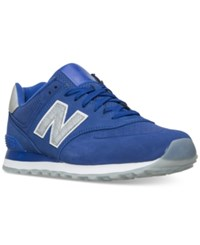 New Balance Men's 574 Reptile Casual Sneakers From Finish Line Uv Blue