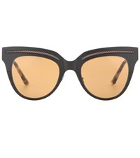Bottega Veneta Cat Eye Sunglasses Black