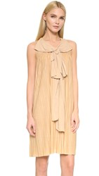 Wgaca Chloe Dress Previously Owned Tan
