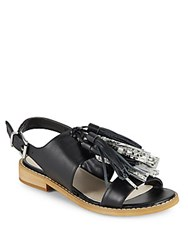 Saks Fifth Avenue Maria Leather Sandals Black