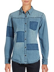 Joe's Jeans Kristina Cotton Denim Shirt Blue