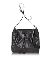 Francesco Biasia Walk On Leather Bucket Bag Black