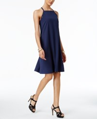 Alfani Prima Grommet Trim A Line Dress Only At Macy's Navy Nautical