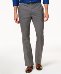 Tasso Elba Men's Classic Fit Duomo Pants Created For Macy's Charcoal