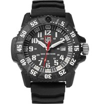 Luminox 3800 Series 3801 Carbon Reinforced And Rubber Watch Black